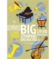 Big Symphonic Orchestra Live Concert Poster vector image