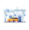 car fueled at gas station vector image