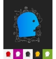 face paper sticker with hand drawn elements vector image