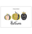 happy halloween poster with cute glamorous vector image