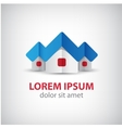 houses origami paper icon logo isolated vector image