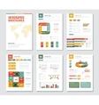 Infographic Brochures Set vector image
