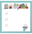 list for culinary records includes potatoes vector image