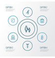 person outline icons set collection of business vector image
