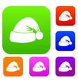 santa hat set collection vector image