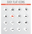 Skiing icons set vector image
