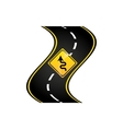 winding road sign concept graphic vector image