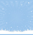 Winter cartoon poster vector image