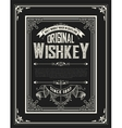 Whiskey label with old frames layered vector image