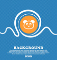 Teddy Bear icon sign Blue and white abstract vector image