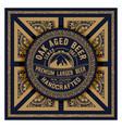 old beer label vector image
