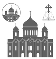 Russia Cathedral of Christ the Saviour vector image vector image