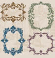 vintage ornaments set02 vector image