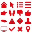 Basic gesture and sign icons vector image