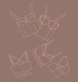 Set of women bra doodle underwear vector image