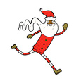 comic cartoon running santa vector image