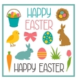 Happy Easter set of decorative objects Can be vector image vector image