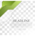 Bright green tech corporate geometric background vector image