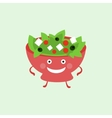 Humanized Salad Funny vector image