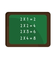 school green board with numbers graphic vector image