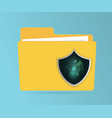 abstract network security concept folder vector image