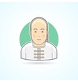 Chinese man in traditional close icon vector image