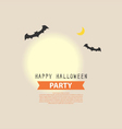 Happy Halloween Party full moon background design vector image