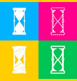 hourglass sign four styles of icon vector image