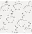 moneybox pattern vector image