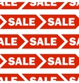 Seamless background with red sale signs vector image