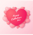 valentines day background with paper heart vector image