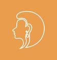 Woman Face Logo Design Template vector image