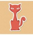 Silhouette orange cat style vector image