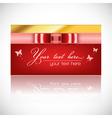 card ribbon vector image