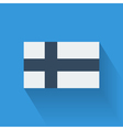 Flat flag of Finland vector image