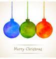 Watercolor Hand Drawn Christmas Balls vector image