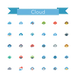 Cloud Flat Icons vector image
