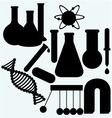 Set of objects used in science vector image
