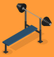 barbell bench press in 3d vector image