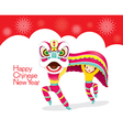 Boys With Lion Dancing Frame vector image