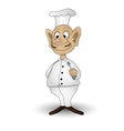 chef with spoon vector image