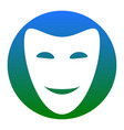 comedy theatrical masks white icon in vector image