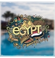 Egypt hand lettering and doodles elements vector image