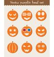 Halloween Pumpkin icons vector image