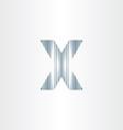 scratched letter x symbol vector image
