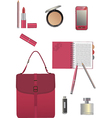Set for business woman vector image