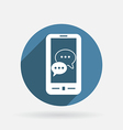 smartphon cloud of speaking dialogue vector image