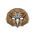 tribal brown owl bird portrait vector image