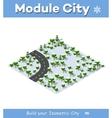 Suburban highway road turn vector image