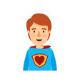 colorful caricature half body super hero young vector image